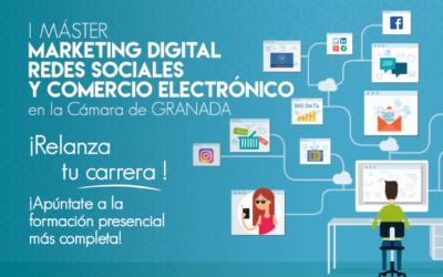 La Cámara de Comercio de Granada lanza el I Máster: Marketing Digital, Redes Sociales y Comercio electrónico