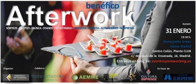 Business Afterwork, un evento para emprendedores y empresas con fines benéficos
