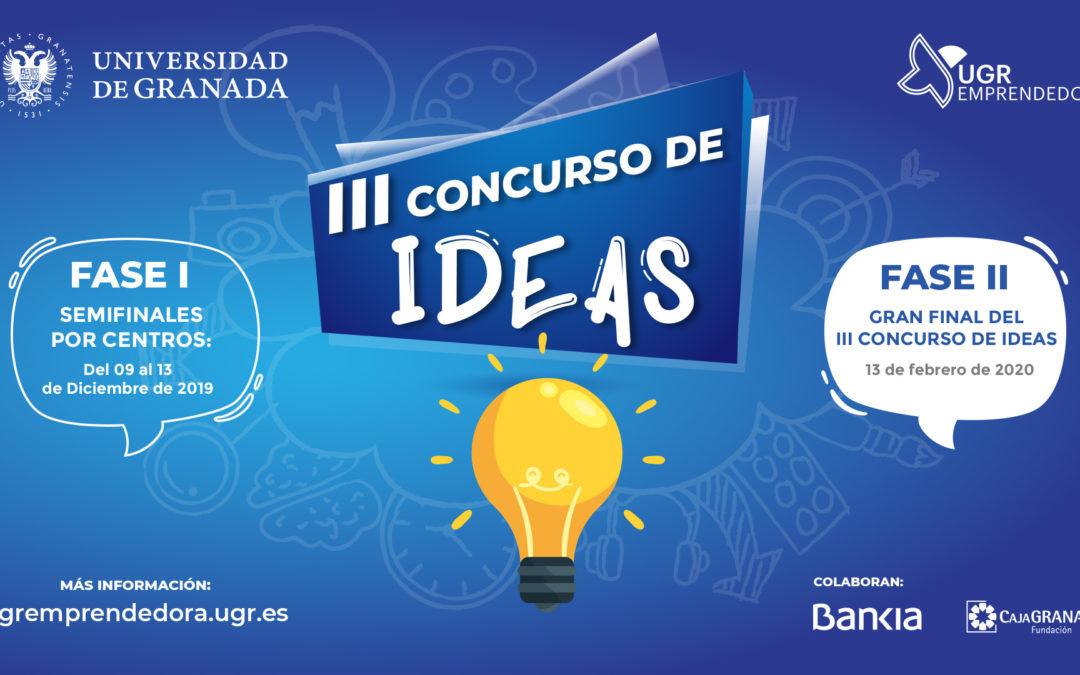 """Abierta la tercera convocatoria del Concurso de Ideas """"UGRemprendedora"""","""
