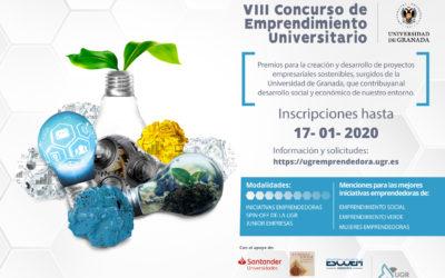 Abierto el plazo para participar en el VIII Concurso de Emprendimiento universitario 2019 de la UGR