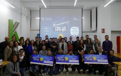 Estos son los ganadores del III Concurso Ideas UGR Emprendedora: más de 14.000€ en premios