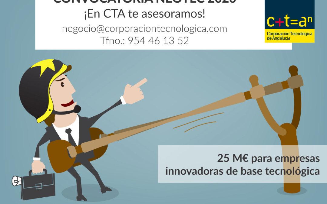NEOTEC abre su convocatoria 2020 para conceder subvenciones de hasta 250.000€ a empresas innovadoras de base tecnológica.