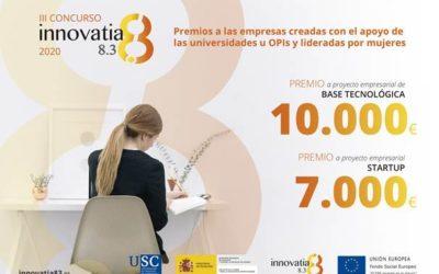 Innovatia 8.3: premios a las empresas creadas con el apoyo de las universidades y lideradas por mujeres.