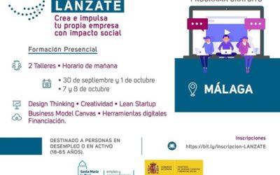 'Lánzate para fomentar el emprendimiento con impacto social', el programa formativo que llega a Málaga y Sevilla