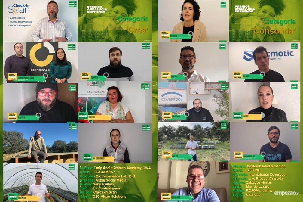 Estas son las startups ganadoras de los Premios Andalucía Emprende 2020, un evento retransmitido a través de Empezar.tv